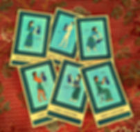 The Rhytons court cards from the Minor Arcana of The Minoan Tarot by Laura Perry