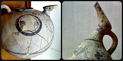 Bird shaped jugs from Thera