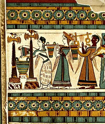 Hagia Triada sarcophagus detail