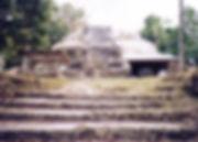 Closeup of Maya temple in Lamanai, Belize