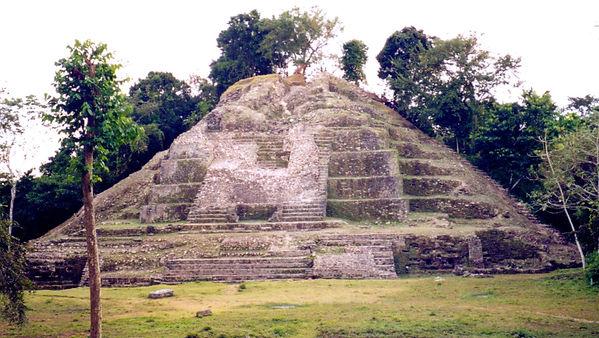 The Jaguar Temple at Lamanai, Belize