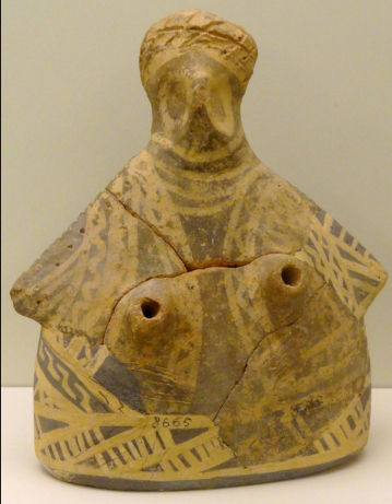 Breast rhyton with bird characteristics