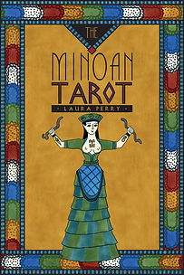 The Minoan Tarot by Laura Perry book and deck set box cover
