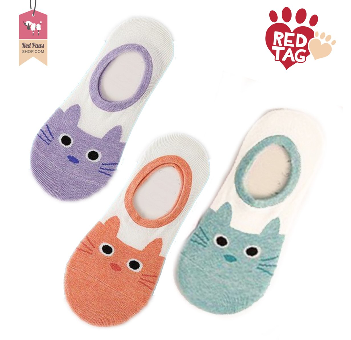 Kitty Print Ankle Socks