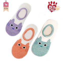 Kitty Print Ankle Socks