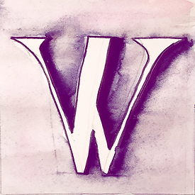 WIP watercolor by Reb Carlson