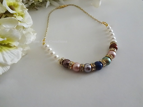 Mother's Pearl Birthstone Necklace MNCK9006