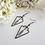 Thumbnail: Antique Brass Hammered Arrowhead Earrings FSER7007