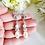 Thumbnail: Swarovski Pearl and Crystal TearDrop Wedding Earrings