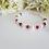 Thumbnail: Swarovski Pearl and Ruby Crystal Clasp Birthstone Bracelet