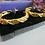Thumbnail: Vintage Avon Elizabeth Taylor Crystal Pave Large Hoop Earrings VTGER10002