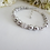 Thumbnail: Pearl and Round Crystal Pave Clasp Bridal Bracelet BRPL3012