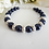 Thumbnail: Navy Blue Pearl and Crystal Pave Wedding Bracelet BRPL3005