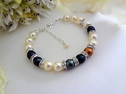 Swarovski Pearl Family Birthstone Clasp Bracelet