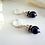Thumbnail: Swarovski Navy Blue Pearl and Crystal Pave Drop Earrings