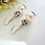 Thumbnail: Pearl and Round Crystal Pave Bridal Drop Earrings BRER4019