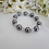 Thumbnail: Pearl and Round Pave Crystal Wedding Bracelet BRPL3016