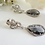 Thumbnail: Grey Crystal Teardrop Earrings