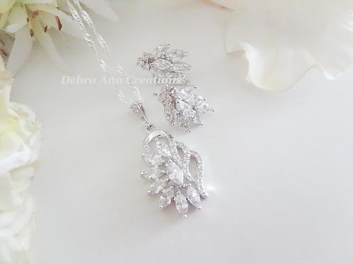 Crystal Marquise Wedding Jewelry Set BRNKST5023