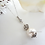 Thumbnail: Pearl and Round Crystal Pave Drop Necklace Set BRNKST5005