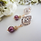 Thumbnail: Pearl and Gold Crystal Wedding Earrings BRER4033