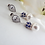 Thumbnail: Pearl and Sapphire Blue Crystal Pave Wedding Earrings BRER4018