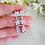 Thumbnail: Cubic Zirconia Teardrop Wedding Earrings