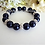 Thumbnail: Navy Blue Pearl and Crystal Bridal Bracelet Set BRSTPL2008