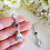 Thumbnail: Sapphire and Clear Cubic Zirconia Long Teardrop Bridal Earrings BRER4026