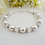 Thumbnail: Pearl and Diamond Crystal Clasp Birthstone Bracelet BRTHBR1002
