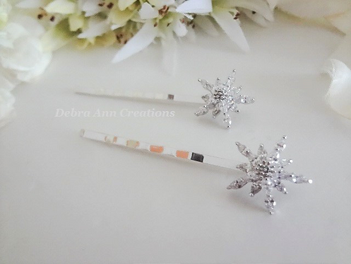 Crystal Flower/Starburst Wedding Hair Pins HRACC8009