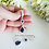 Thumbnail: Sapphire Cubic Zirconia Teardrop Micro Pave Wedding Earrings BRER4017