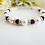 Thumbnail: Swarovski Garnet Crystal and Pearl Bracelet