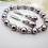 Thumbnail: Pearl and Crystal Wedding Bracelet and Earrings Set BRSTPL2011