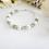 Thumbnail: Pearl and Peridot Crystal Clasp Birthstone Bracelet BRTHBR1010