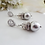 Thumbnail: Pearl and Crystal Pave Drop Wedding Earrings BRER4029