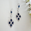 Thumbnail: Sapphire Cubic Zirconia Teardrop Pendant Bridal Necklace and Earrings Set