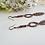 Thumbnail: Antique Copper Long Metal Feather Earrings FSER7006