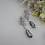 Thumbnail: Baroque Pearl and CZ Marquise Earrings BRER4049