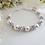 Thumbnail: Swarovski Pearl and Alexandrite Crystal Clasp Birthstone Bracelet