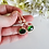 Thumbnail: Emerald Cubic Zirconia Halo Dangle Wedding Earrings