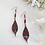 Thumbnail: Antique Copper Leaf Earrings