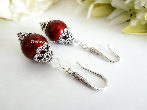 Pearl and Crystal Drop Bridal Earrings BRER4015