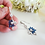 Thumbnail: Blue Sapphire Marquise Cubic Zirconia Wedding Drop Earrings