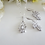 Thumbnail: Cubic Zirconia Marquise Cluster Teardrop Wedding Necklace Set BRNKST5011