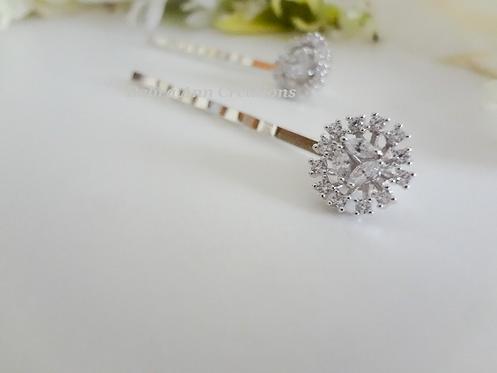 Crystal Flower Bridal Hair Pins HRACC8010