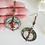 Thumbnail: Antique Brass Donut Hoop Long Earrings FSER7010