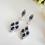 Thumbnail: Blue Sapphire Marquise Cubic Zirconia Bridal Drop Earrings BRER4031