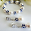 Thumbnail: Pearl and Sapphire Crystal Bridal Bracelet Set BRSTPL2005