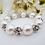 Thumbnail: Swarovski Pearl and Antique Silver Pave Crystal Wedding Bracelet